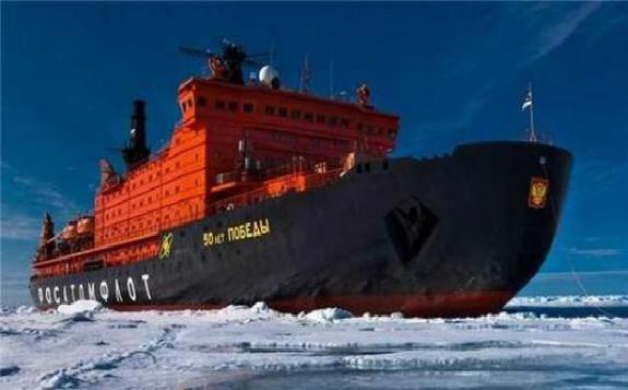 """俄将建造""""领袖""""号大型核动力破冰船"""