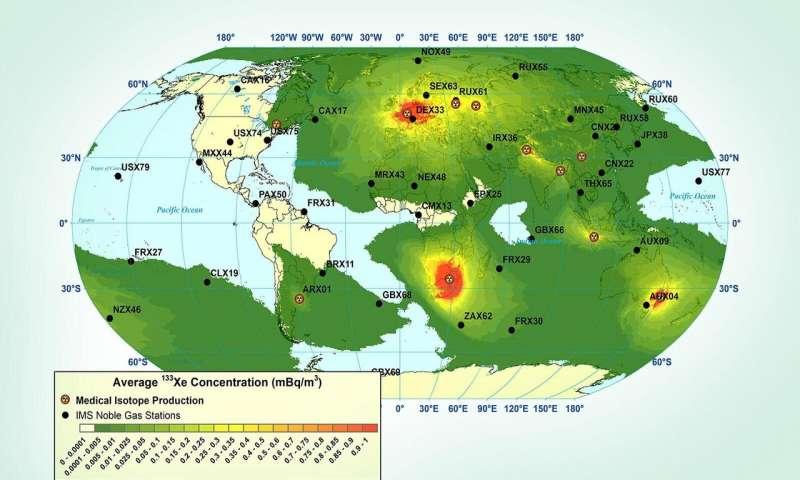 超灵敏的测量可随时掌握数百英里外的放射性核素信号