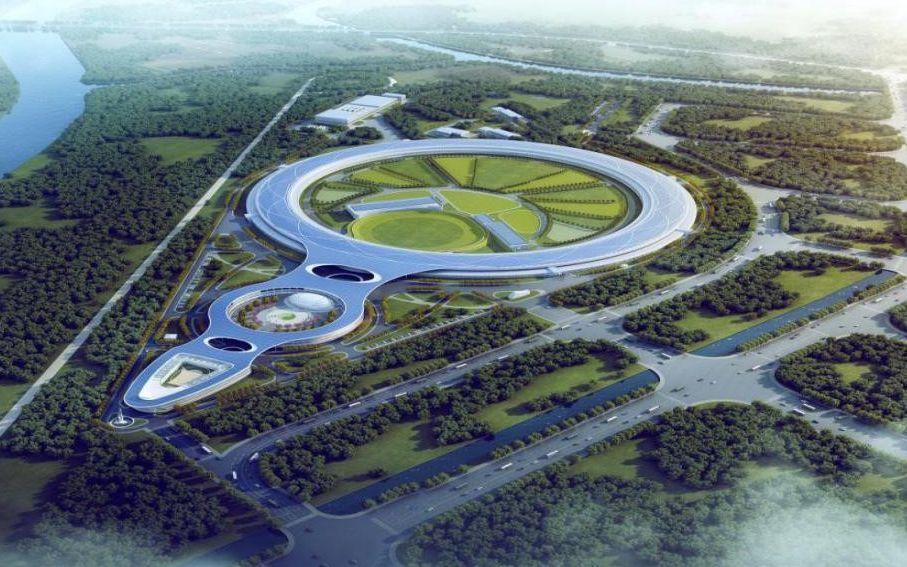 我国首台高能同步辐射光源主体钢结构完成