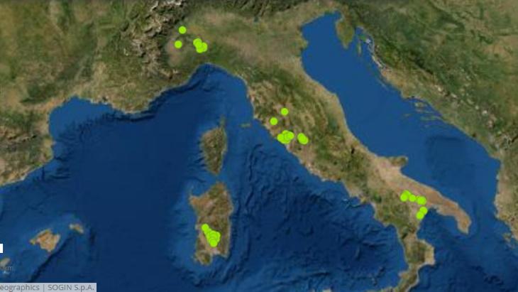 意大利公布67个放射性废物存储设施潜在地点清单