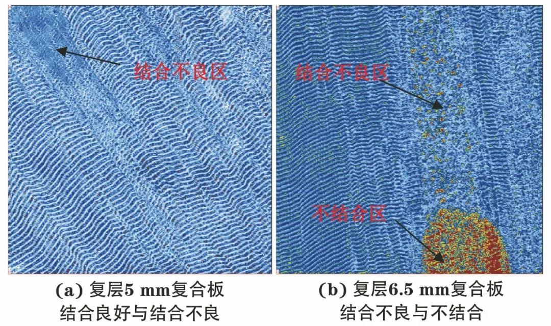爆炸焊接复合板的超声C扫描成像