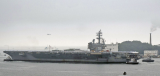 """美军""""里根""""号核航母出港部署"""