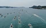 <p>出动100多艘渔船 韩团体示威反对日核污水排海决定</p>
